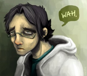otacon-sad by inguen