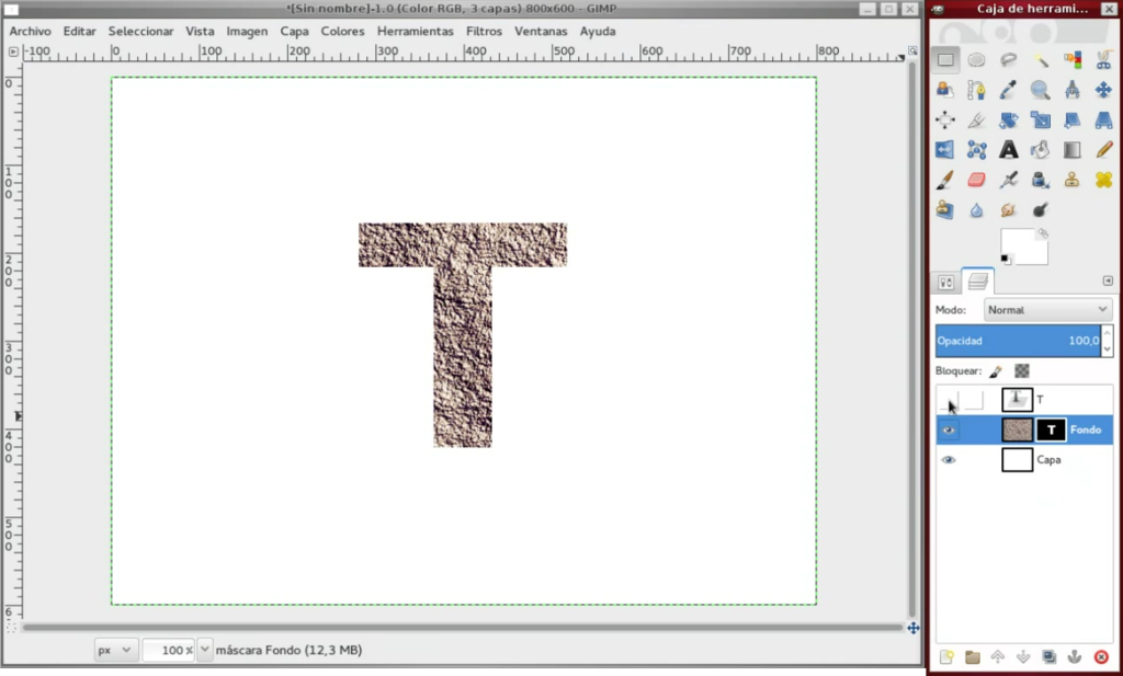 How to create text with Stone texture with GIMP