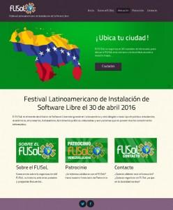 FLISoL 2016: sitio web